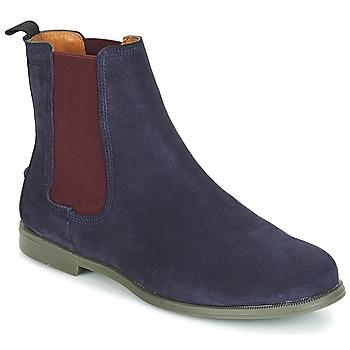 Shoes Women Mid boots Sebago CHELSEA DONNA SUEDE Marine