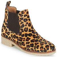 Shoes Women Mid boots Bensimon BOOTS CREPE Leopard