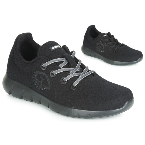 Shoes Women Low top trainers Giesswein MERINO RUNNERS Black