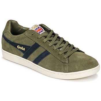 Shoes Men Low top trainers Gola Equipe Suede Kaki / Marine
