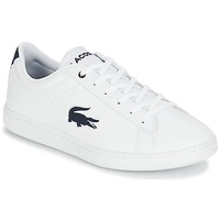 Shoes Children Low top trainers Lacoste CARNABY EVO 318 1 White / Marine