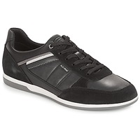 Shoes Men Low top trainers Geox U RENAN Black