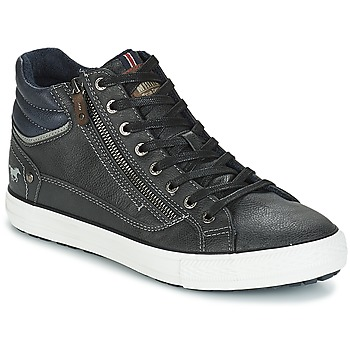 Shoes Men High top trainers Mustang AIYANNA Grey / Dark