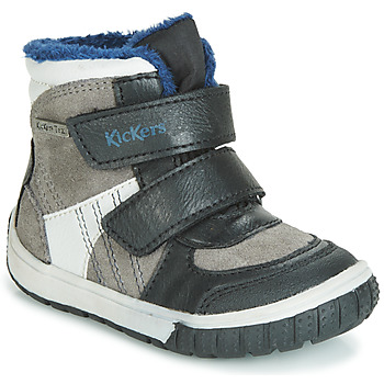 Shoes Boy Snow boots Kickers SITROUILLE WPF Black / Grey