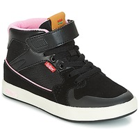 Shoes Girl High top trainers Kickers GREADY MID CDT Black / Pink