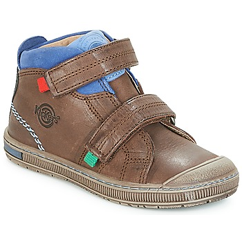 Shoes Boy High top trainers Kickers IGUTO Brown