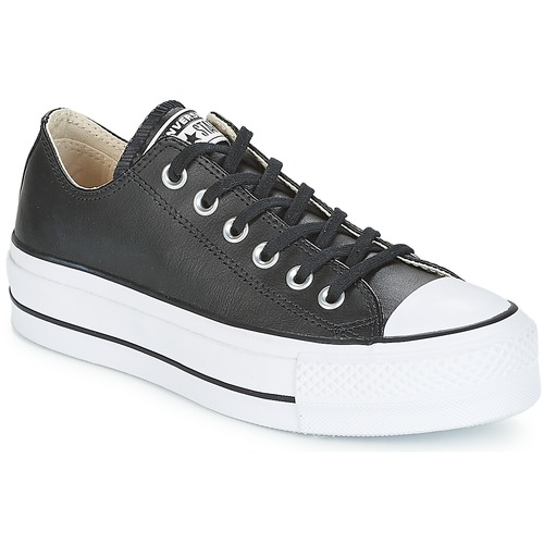 Shoes Women Low top trainers Converse CHUCK TAYLOR ALL STAR LIFT CLEAN OX LEATHER Black / White