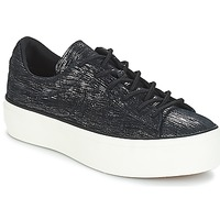 Shoes Women Low top trainers Converse ONE STAR PLATFORM OX  black / Gunmetal / Egret