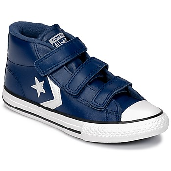 Shoes Children High top trainers Converse STAR PLAYER 3V MID Navy / Mason / Blue / Vintage / White