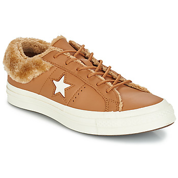 Shoes Women Low top trainers Converse ONE STAR LEATHER OX Camel