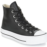 Shoes Women High top trainers Converse CHUCK TAYLOR ALL STAR LIFT CLEAN LEATHER HI Black