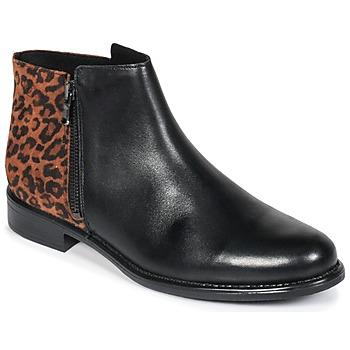 Shoes Women Mid boots Betty London JINANE Black / Brown