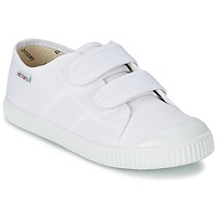 Shoes Children Low top trainers Victoria BLUCHER LONA DOS VELCROS White
