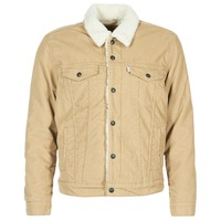 material Men Denim jackets Levi's TYPE 3 SHERPA TRUCKER Beige