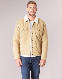 material Men Denim jackets Levi's TYPE 3 SHERPA TRUCKER Beige