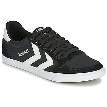 Shoes Low top trainers Hummel TEN STAR LOW CANVAS Black / White