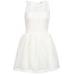 material Women Short Dresses Brigitte Bardot AGNES White