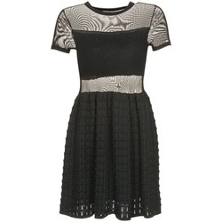 material Women Short Dresses Brigitte Bardot ALBERTINE Black
