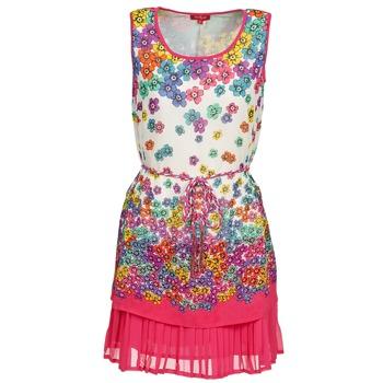 material Women Short Dresses Derhy BARMAN Ecru / Pink