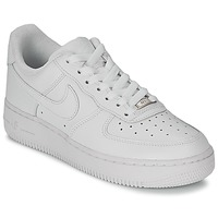 Shoes Women Low top trainers Nike AIR FORCE 1 07 LEATHER W White