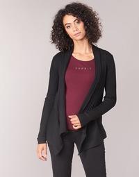 material Women Jackets / Cardigans Esprit VECKY Black