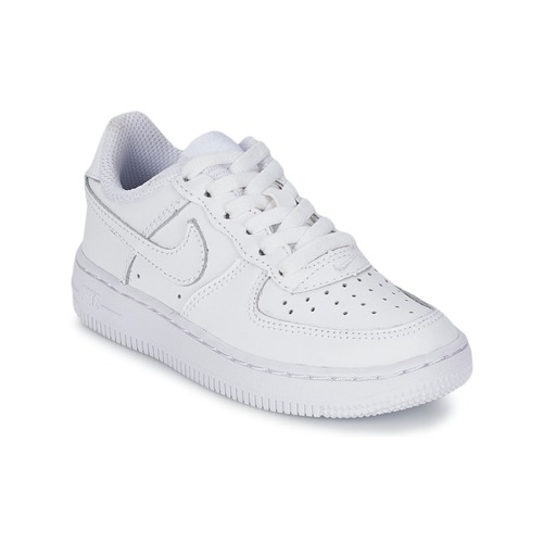 sale retailer 1b45e 5c414 Shoes Children Low top trainers Nike AIR FORCE 1 White