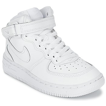 Shoes Children Low top trainers Nike AIR FORCE 1 MID White