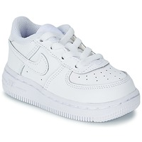Shoes Children Low top trainers Nike AIR FORCE 1 White