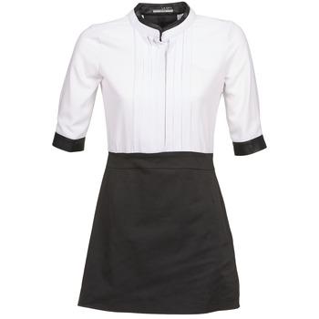 material Women Short Dresses La City COLUMBA Black / White