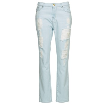material Women straight jeans Cimarron BOY Blue / Clear