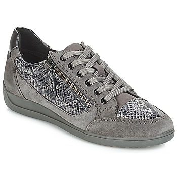 Shoes Women Low top trainers Geox D MYRIA Grey