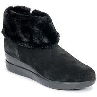 Shoes Women Mid boots Geox D STARDUST Black