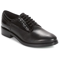 Shoes Women Derby shoes Geox DONNA BROGUE Black