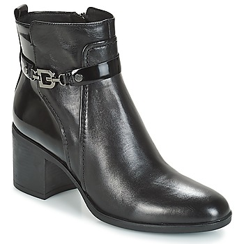 Shoes Women Ankle boots Geox D GLYNNA Black