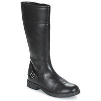 Shoes Girl Boots Geox JR SOFIA Black