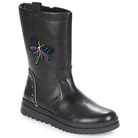 Shoes Girl Boots Geox J GILLYJAW GIRL Black