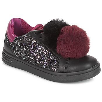 Shoes Girl Low top trainers Geox J DJROCK GIRL Black / Violet
