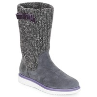 Shoes Girl Boots Geox J THYMAR GIRL Grey