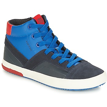 Shoes Boy High top trainers Geox J ALONISSO BOY Marine / Red
