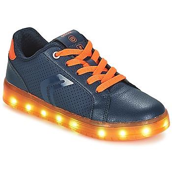 Shoes Boy Low top trainers Geox J KOMMODOR BOY Marine / Orange