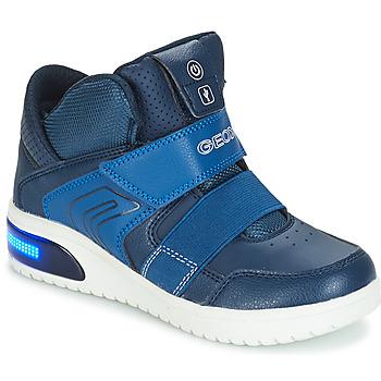 Shoes Boy Low top trainers Geox J XLED BOY Marine