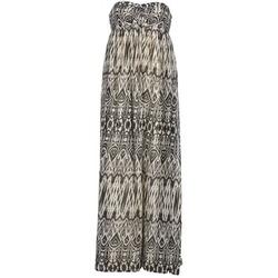 material Women Long Dresses Le Temps des Cerises GOTA Grey / White