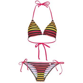 material Women Swimsuits Little Marcel BASTINE Black / Multicoloured