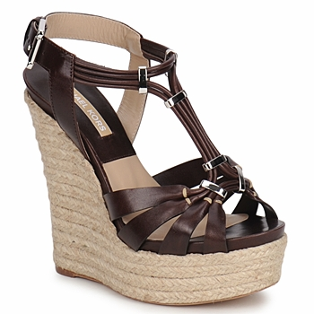 Shoes Women Sandals Michael Kors IDALIA Brown