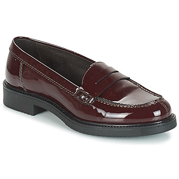 Shoes Women Loafers André ROBINE Bordeaux