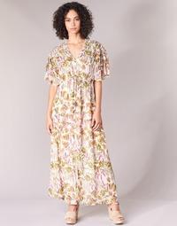 material Women Long Dresses Derhy ALEXANDRIN Ecru