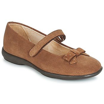 Shoes Girl Ballerinas André LES SOURIS Camel