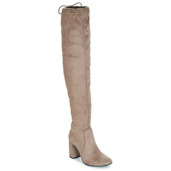Shoes Women High boots André VELOURS Beige