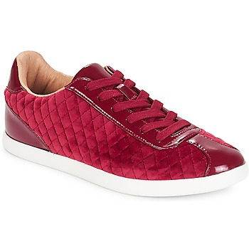 Shoes Women Low top trainers André VELVET Red