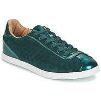 Shoes Women Low top trainers André VELVET Green
